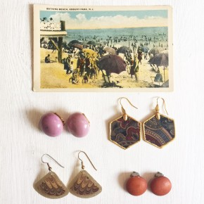 Vintage Jewelry with Postcard